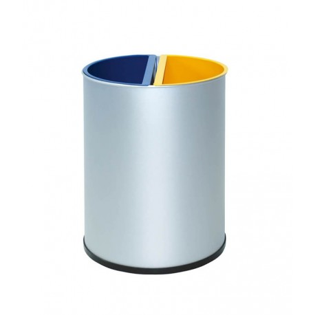 Papelera reciclaje 2 departamentos