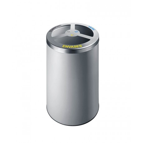 Papelera metálica reciclaje